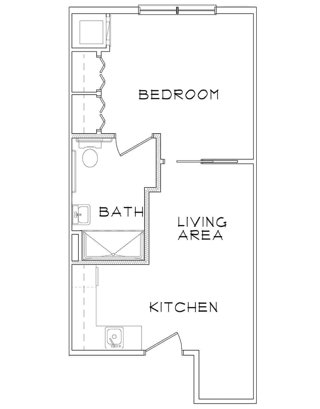 Conch – 1BR/1BA – 465 Sq. Ft.