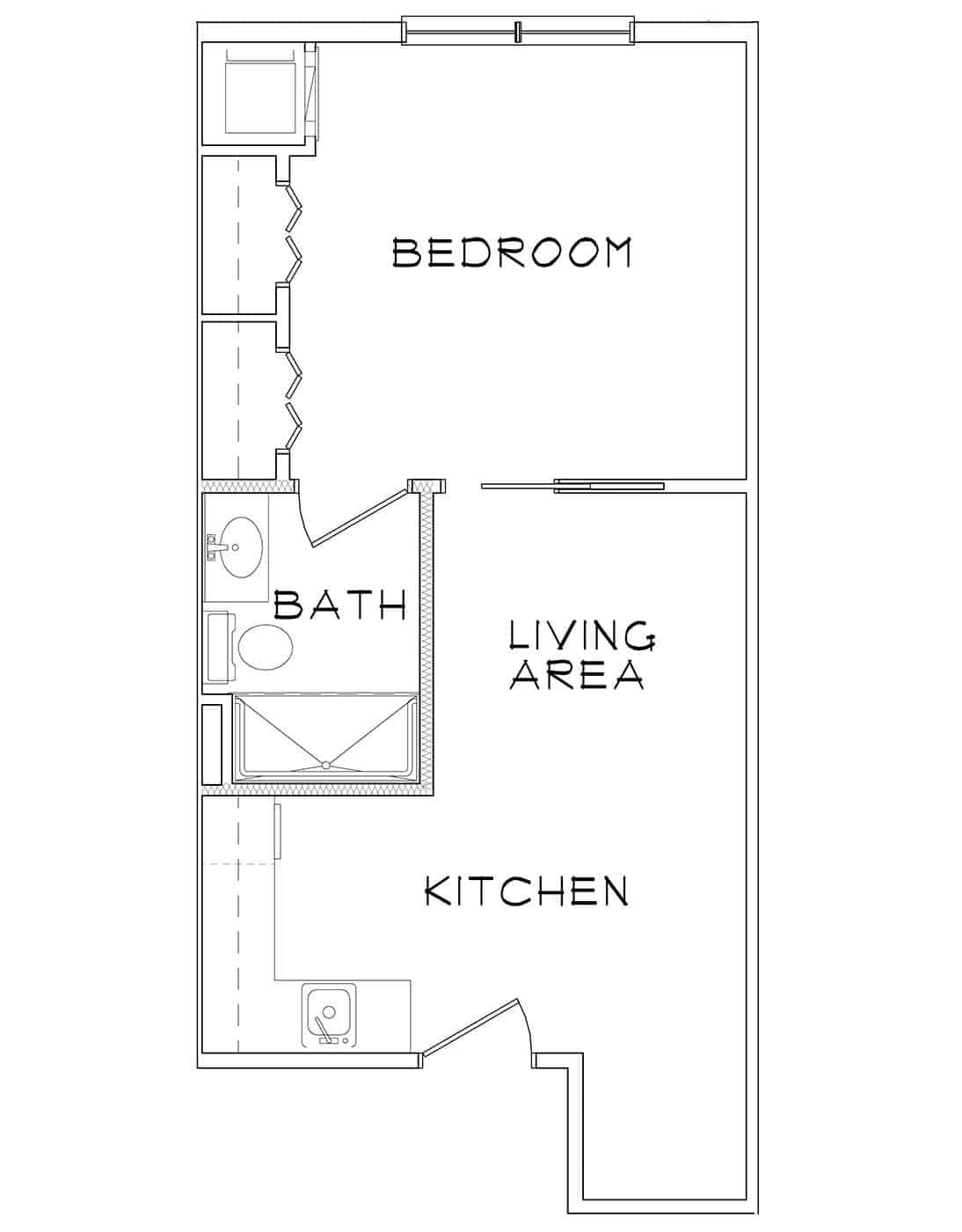 Calico – 1BR/1BA – 465 sq. ft.