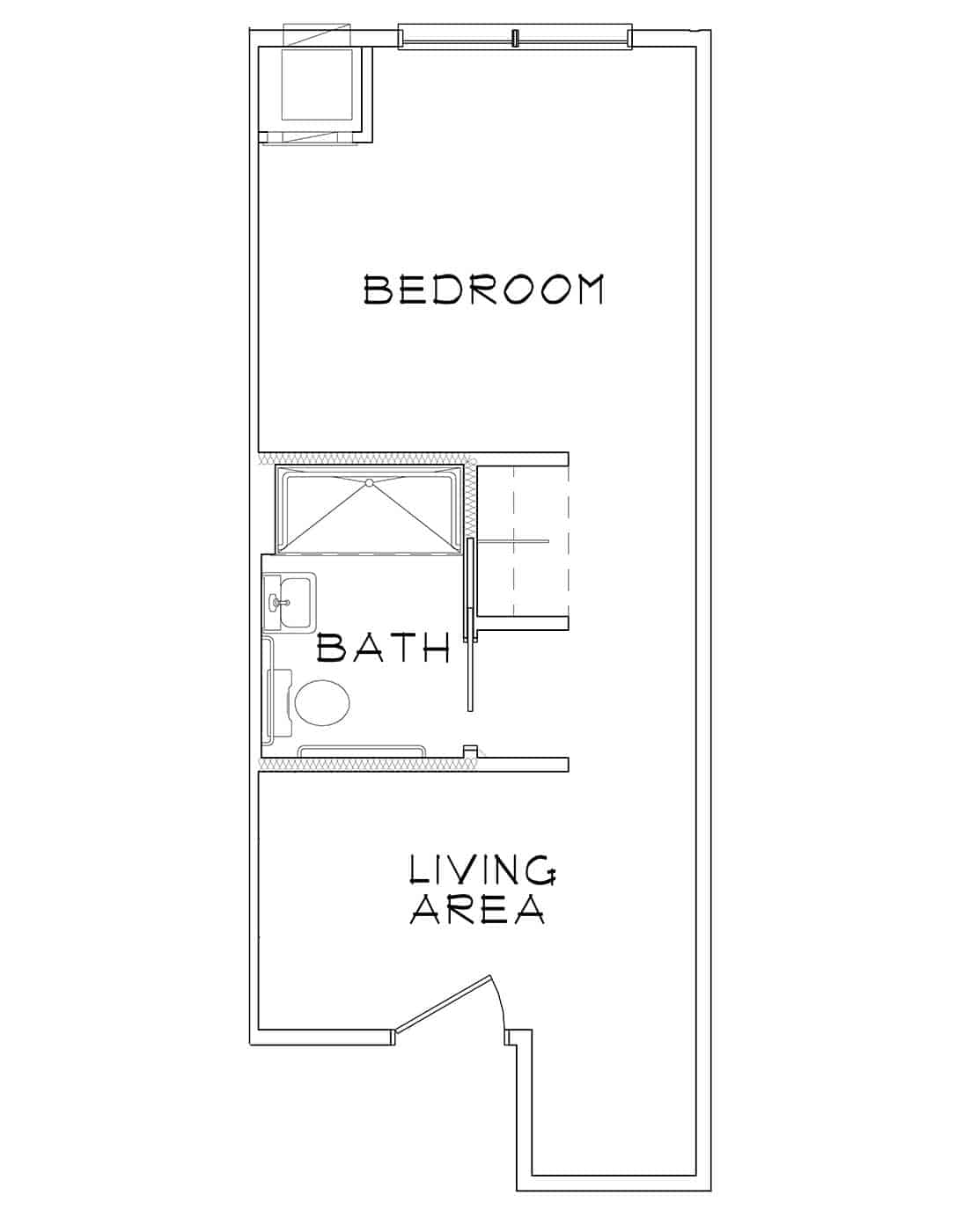 Anhinga – Studio – 366 Sq. Ft.