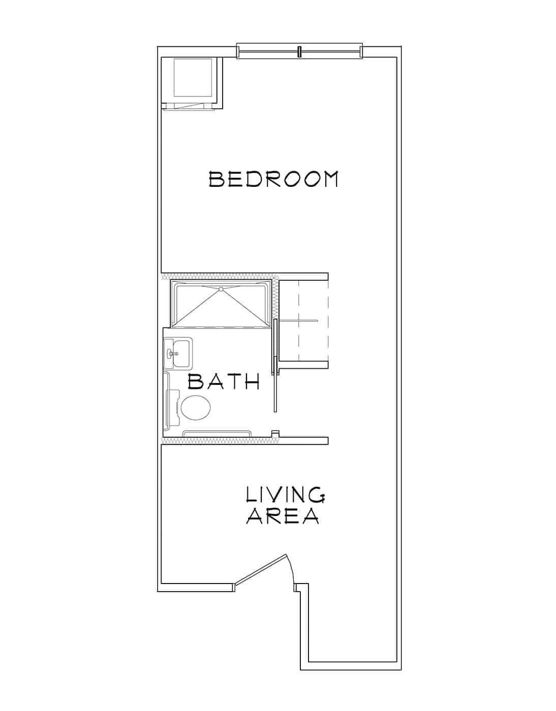 Blue Heron – Studio – 366 Sq. Ft.